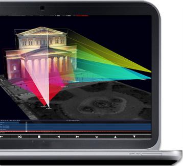 D3designer_projector_simulation_bolshoi